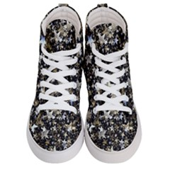 Background Star Christmas Advent Men s Hi Top Skate Sneakers