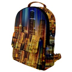 Skyline Light Rays Gloss Upgrade Flap Pocket Backpack (small)