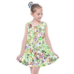 Background Christmas Star Advent Kids  Summer Dress by Bejoart