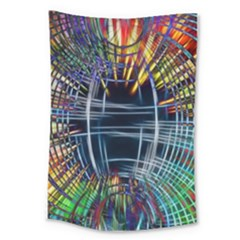 Color Background Structure Lines Large Tapestry