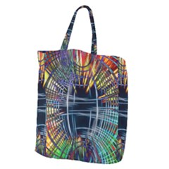 Color Background Structure Lines Giant Grocery Tote