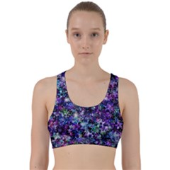 Background Christmas Star Advent Back Weave Sports Bra by Bejoart