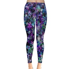 Background Christmas Star Advent Inside Out Leggings
