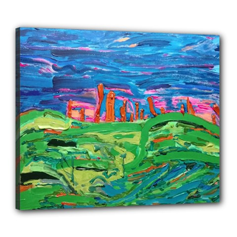 Our Town My Town Canvas 24  X 20  (stretched) by arwwearableart