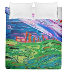 Our Town My Town Duvet Cover Double Side (queen Size)