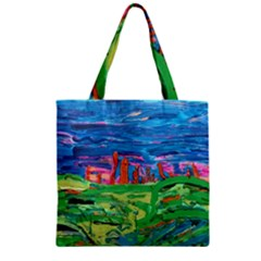 Our Town My Town Zipper Grocery Tote Bag