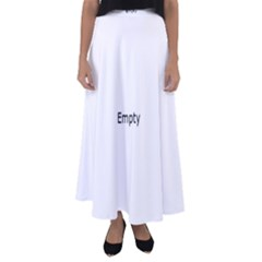 Beaded White Yarn Flared Maxi Skirt