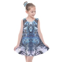Angel Wings Blue  Kids  Summer Dress by CrypticFragmentsDesign