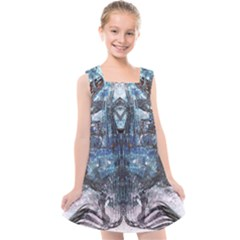 Angel Wings Blue  Kids  Cross Back Dress