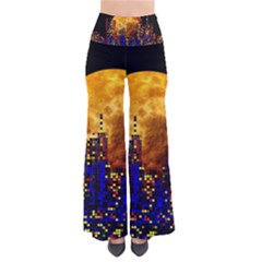 Skyline Frankfurt Abstract Moon So Vintage Palazzo Pants