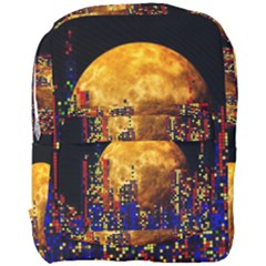 Skyline Frankfurt Abstract Moon Full Print Backpack