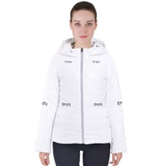 Paint On A White Background                                                             Women s Hooded Puffer Jacket by LalyLauraFLM