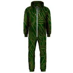 Circuit Board Electronics Draft Hooded Jumpsuit (men)