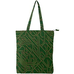 Circuit Board Electronics Draft Double Zip Up Tote Bag