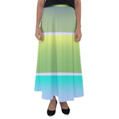 Pattern Banner Background Dot Set Flared Maxi Skirt