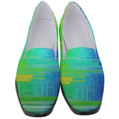 Colors Rainbow Chakras Style Women s Classic Loafer Heels