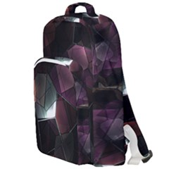 Crystals Background Design Luxury Double Compartment Backpack by Bejoart