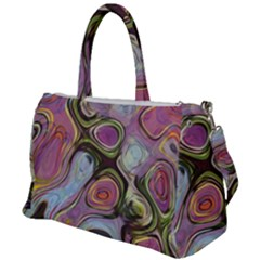 Retro Background Colorful Hippie Duffel Travel Bag