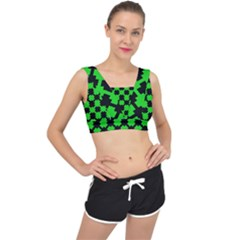 Art Modern Design Contemporary V Back Sports Bra