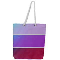 Pattern Banner Set Dot Abstract Full Print Rope Handle Tote (large)