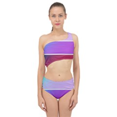 Pattern Banner Set Dot Abstract Spliced Up Two Piece Swimsuit
