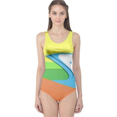 Waves Beach Sun Sea Water Sky One Piece Swimsuit
