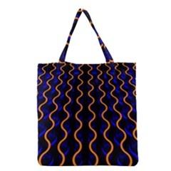 Pattern Abstract Wallpaper Waves Grocery Tote Bag