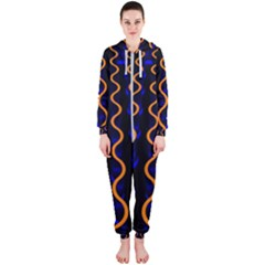 Pattern Abstract Wallpaper Waves Hooded Jumpsuit (ladies)