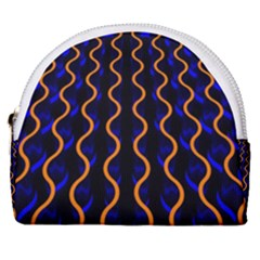 Pattern Abstract Wallpaper Waves Horseshoe Style Canvas Pouch by Bejoart