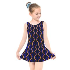 Pattern Abstract Wallpaper Waves Kids  Skater Dress Swimsuit