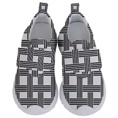 Seamless Stripe Pattern Lines Velcro Strap Shoes
