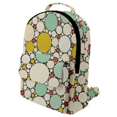 Art Retro Design Style Digital Flap Pocket Backpack (small)