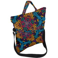 Grubby Colors Kaleidoscope Pattern Fold Over Handle Tote Bag