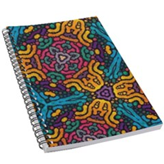 Grubby Colors Kaleidoscope Pattern 5 5  X 8 5  Notebook New by Bejoart