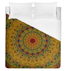 India Mystic Background Ornamental Duvet Cover (queen Size) by Bejoart