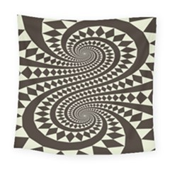 Retro Form Shape Abstract Square Tapestry (large) by Bejoart