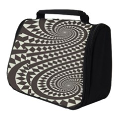 Retro Form Shape Abstract Full Print Travel Pouch (small)