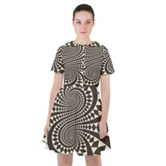 Retro Form Shape Abstract Sailor Dress