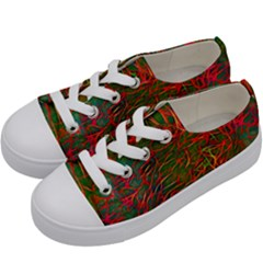 Background Pattern Texture Kids  Low Top Canvas Sneakers by Bejoart