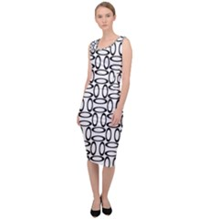 Ellipse Pattern Ellipse Dot Pattern Sleeveless Pencil Dress
