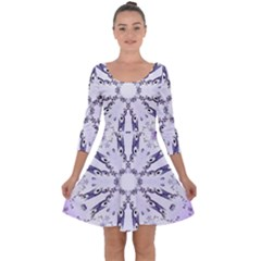 Digital Art Art Artwork Abstract Quarter Sleeve Skater Dress