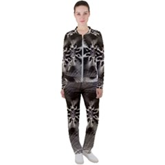 Fractal Art Design Pattern Texture Casual Jacket And Pants Set by Bejoart