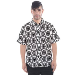 Wave Sine Pattern Wavy Halftone Men s Short Sleeve Shirt