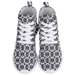 Wave Sine Pattern Wavy Halftone Women s Lightweight High Top Sneakers