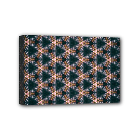 Abstract Light Fractal Pattern Mini Canvas 6  X 4  (stretched)