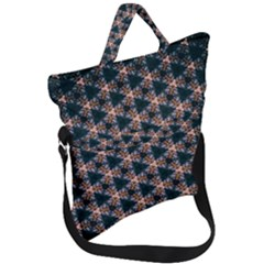 Abstract Light Fractal Pattern Fold Over Handle Tote Bag