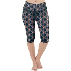 Abstract Light Fractal Pattern Lightweight Velour Cropped Yoga Leggings by Bejoart