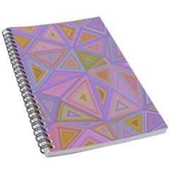 Triangle Digital Polygonal Poly 5 5  X 8 5  Notebook New by Bejoart