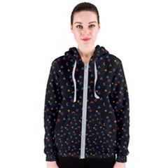 Background Abstract Texture Women s Zipper Hoodie