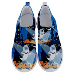 Halloween Ghosts Haunted House No Lace Lightweight Shoes